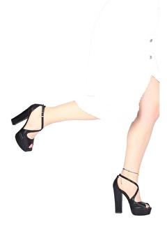 Modabuymus Modabuymus Sedef Yüksek Platform Topuk Abiye Ayakkabı - Rise